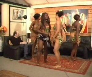 Africanal Dancing By Jean..