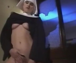 Nun Fucks the Bedpost in the..